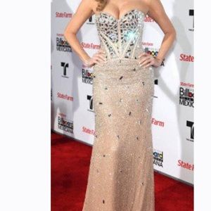 RARE🦄 Sherri Hill COUTURE Beaded Mirror Gown